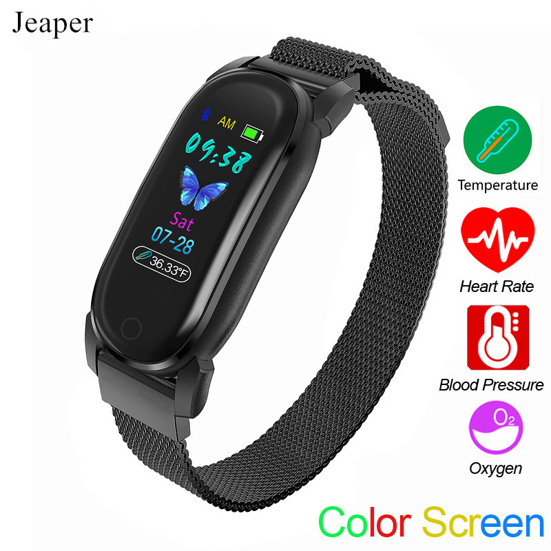 Smart Bracelet YD8 Men Temperature Measurement Thermometer Band Women Heart Rate Sleep Fitness Tracker Clock Sport Smartwatch