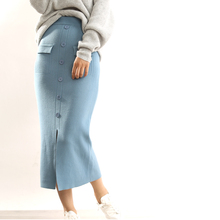 ATTYYWS 2019 Cashmere Knit Slim Joker Skirt Women Europe and America Popular New Fashion bag hip long section Multicolor skirt