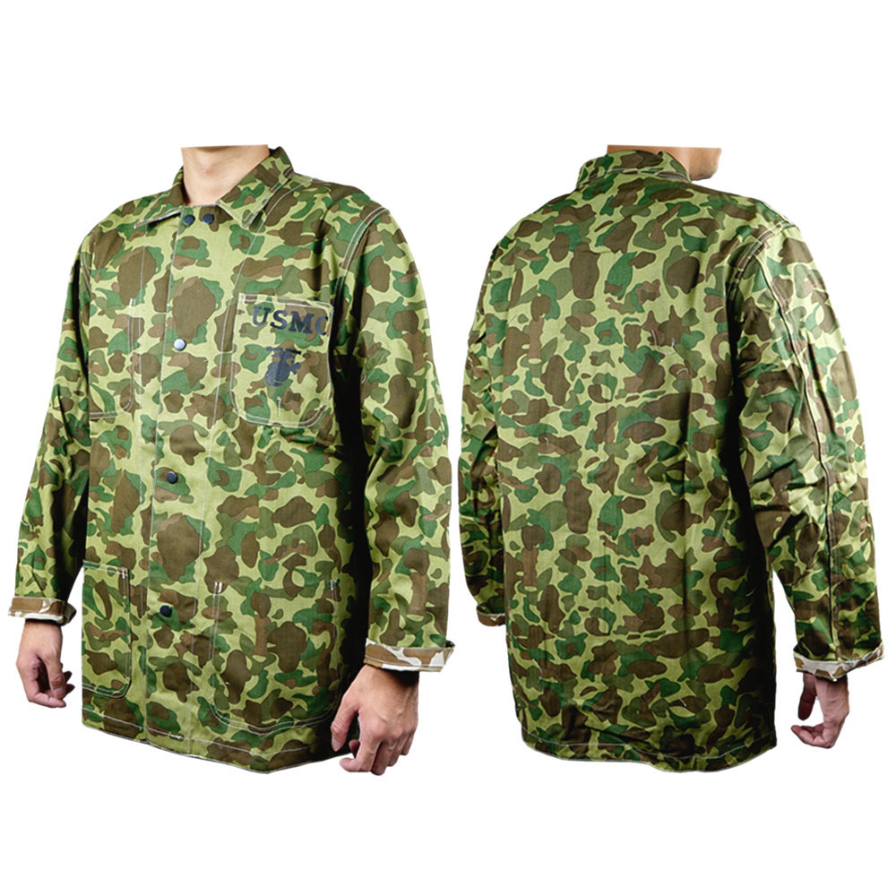 WWII WW2 US MARINE CORPS ARMY PACIFIC CAMOUFLAGE UNIFORMS JACKET REVERSIBLE CAMO COAT