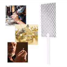 20*5cm Platinized siatka tytanowa anoda rod Mesh z uchwytem narzędzie jubilerskie jubiler Goldsmith narzędzie biżuteria poszycia Plater narzędzie