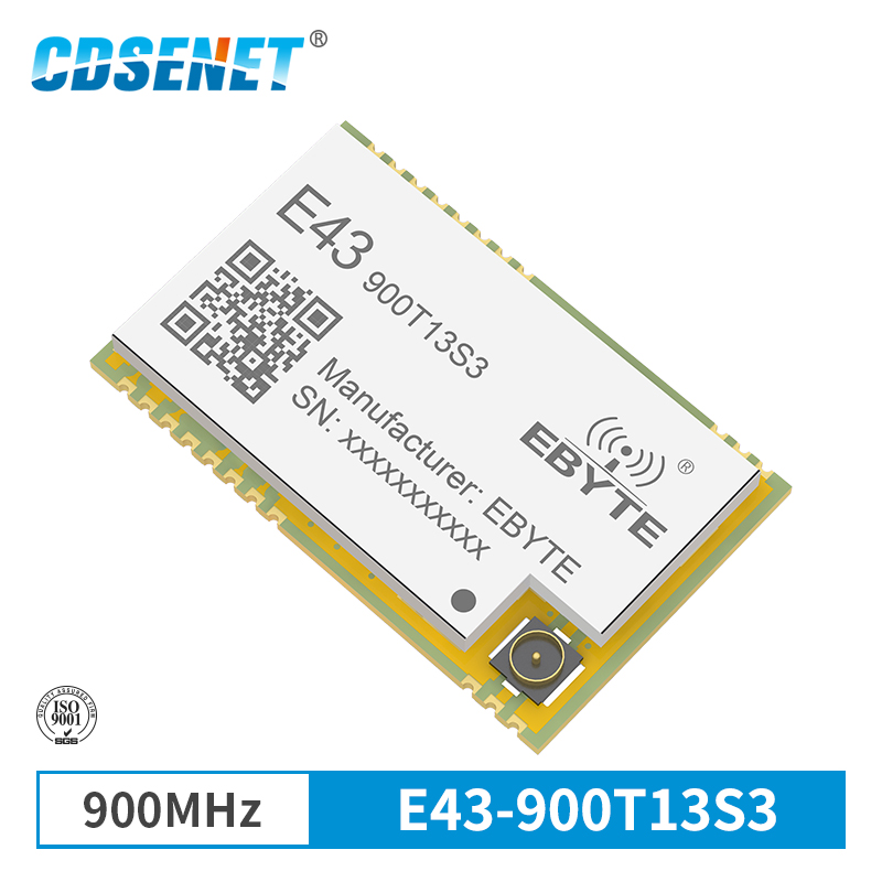 868MHz 915MHz Wireless Transceiver SMD Module 13dBm IPEX E43-900T13S3 UART Low Power Consumption RSSI Transmitter Receiver