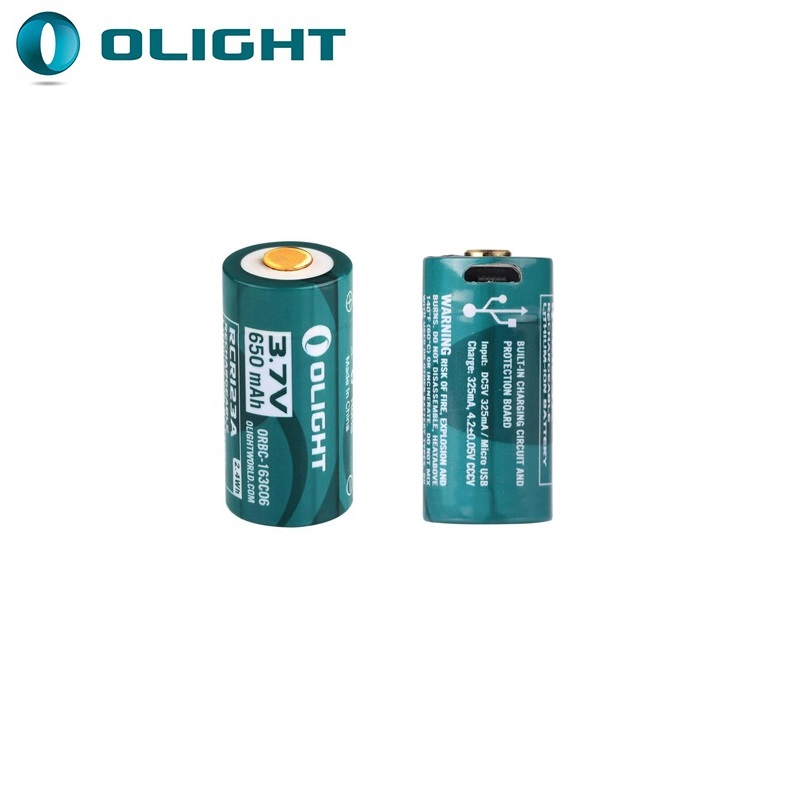 Olight ORBC 163C06 650mAh 3.7V RCR123A 16340 Rechargeable Lithium ion battery