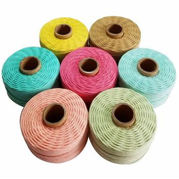 100 lina bawełniana 80 m rolka sznurek kolorowy sznurek makrama sznurek nici do dekoracja na przyjęcie ślubne akcesoria DIY tanie i dobre opinie 100 Cotton CN (pochodzenie) TWISTED Wysoka wytrzymałość na rozciąganie Ekologiczne 80m roll C1201 Sznury Tekstylia domowe