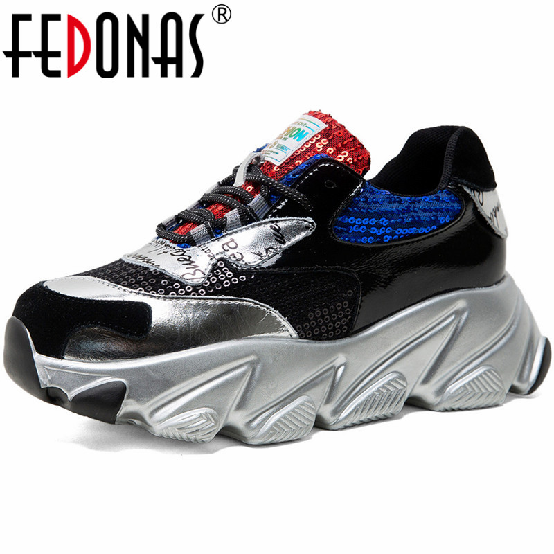 FEDONAS Newest Print Women Genuine Leather Flats Shallow Casual Basic Shoes Woman Spring Women Fashion Comfortable Sneakers