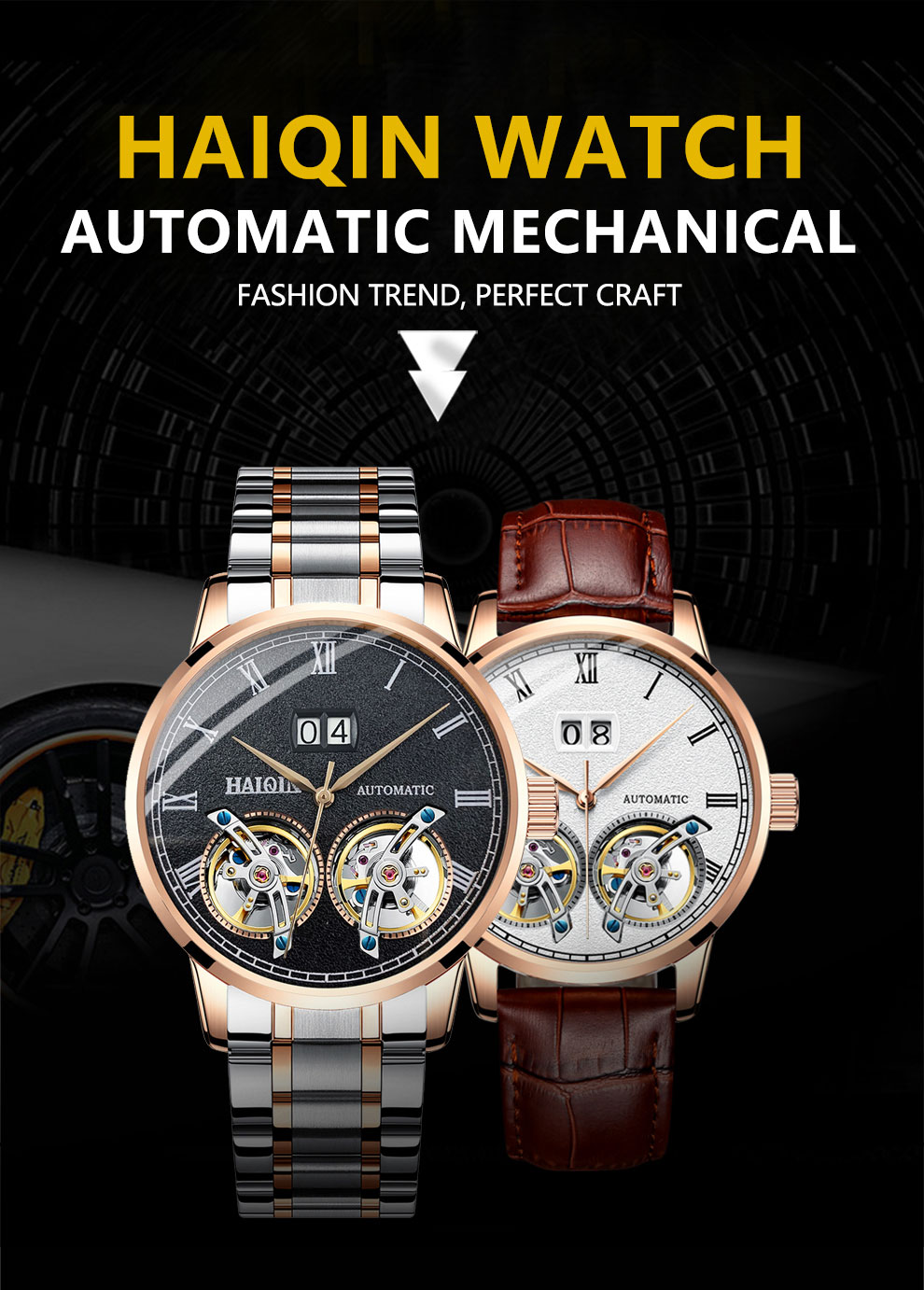 HAIQIN Men's watches Mens Watches top brand luxury Automatic mechanical sport watch men wirstwatch Tourbillon Reloj hombres 2020 Hd41df7923f3843cb892c04372f502371F