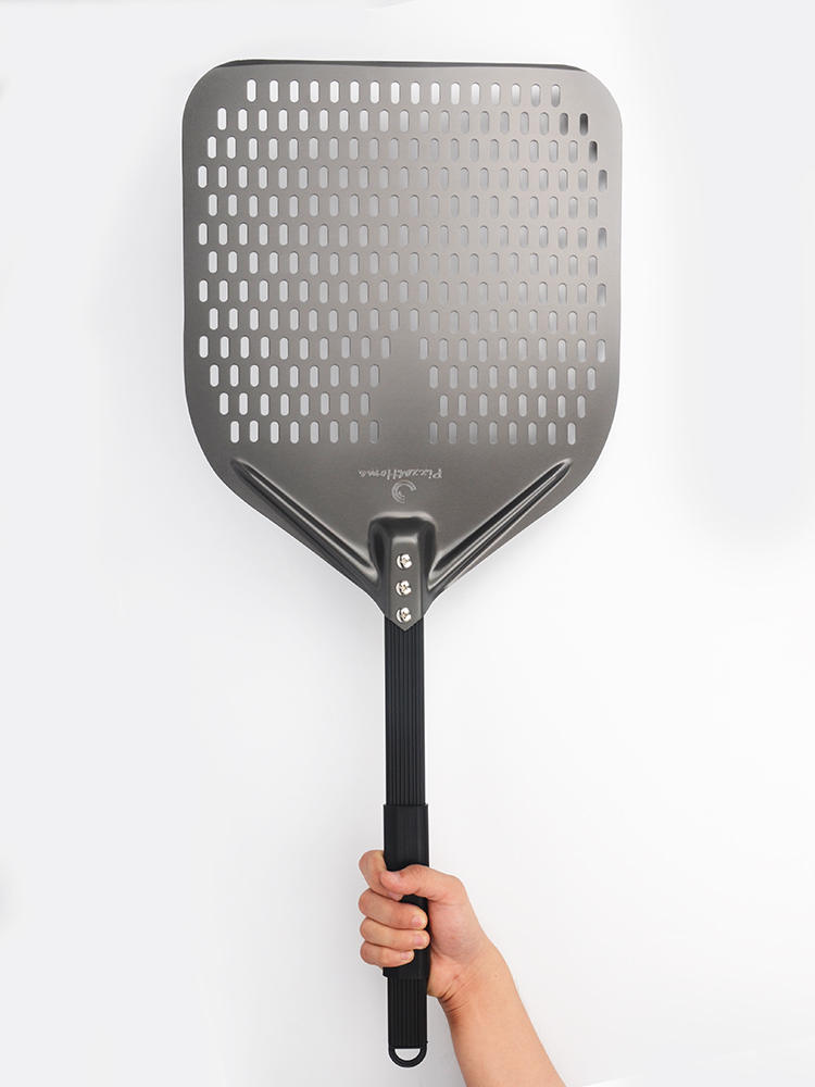 Pizza-Shovel Perforated-Pizza-Peel Aluminum Short Rectangular Hard-Coating 13inch New