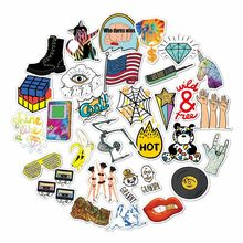 Cute Trendy American Style Stickers 30 Pack Cool Aesthetic Stickers PC Laptop Decal For Portable Hydrofoils Car Luggage(China)