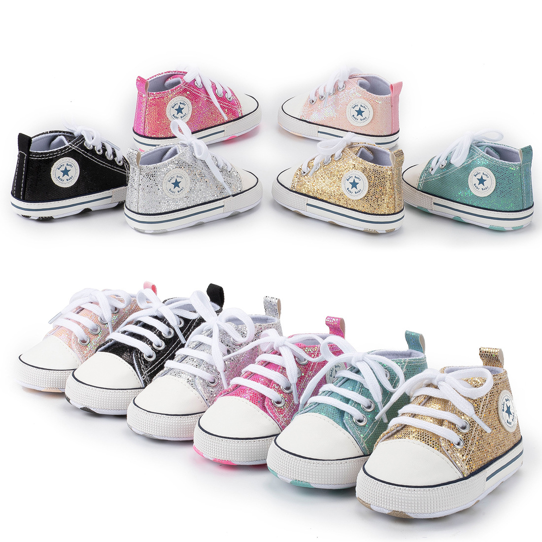 New Canvas Classic Sports Shoes Newborn Baby Boys Girls First Walkers Shoes Infant Toddler Soft Sole Anti-slip Baby Shoes Winter