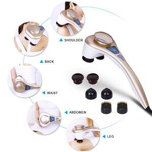 Image 5 - LUYAO Double HEAD ไฟฟ้ามือถือกลับนวดความร้อนลึกเครื่องนวดสำหรับคอไหล่บรรเทาสุขภาพบ้าน