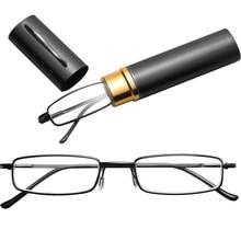 Reading-Glasses Mini Portable Women Unisex Resin with Tube-Case 1PC 1PC