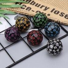 6Pcs 60 Zijdig D60 Polyhedrale Dobbelstenen Voor Casino G Mtg Party Tafel Bordspel