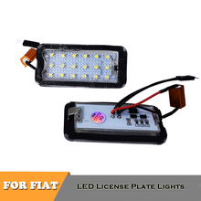 2x 18SMD canbus No Error LED license plate number lights for Fiat 500 500C car styling accessories 2x auto light for 03 18 dodge ram 1500 2500 3500 smoke lens led number license plate light kit canbus error free car styling