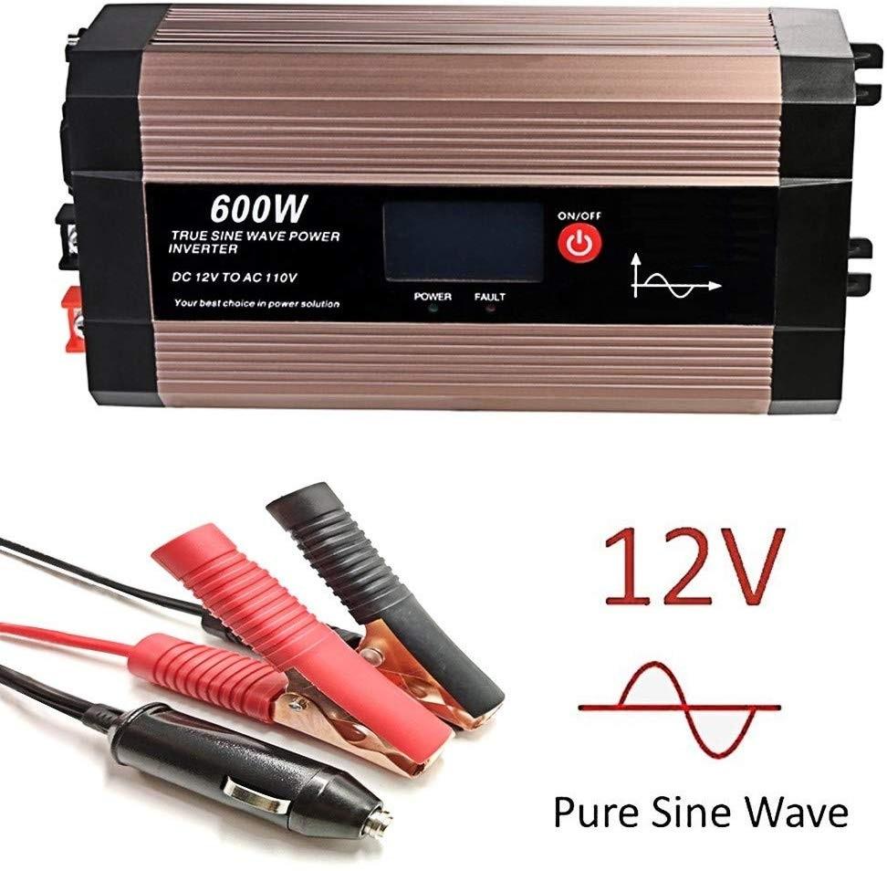 2500W Power Inverter Pure Sine Wave 12V dc 110V 120V ac LCD Truck Car