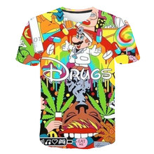 цена на Summer new style 3d T Shirt Cartoon Super Mario Sponge 3D print T-shirt funny drugs casual Gamer o neck 3d Tshirt T Shirts Tops