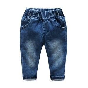 Image 4 - Newborn clothes plaid shirt with jeans blue color bebes clothing set 2pcs/set hot sale chlild clothing set