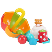 Hape Baby Bath Toys Water Toy For Kids Colourful Umbrella Set On Swimming Pool