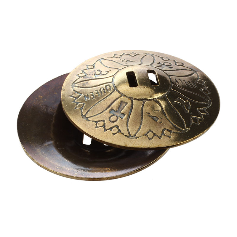 1 Pair Of Finger Cymbals, In Copper, Gilded For The Belly Dance Musical Instruments