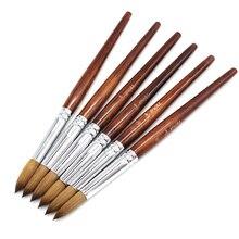 цена на Eval Professional Sable Nail Brush Acrylic Nail Brush Kolinsky UV Gel Nail Brush Nail Painting Art Supplies