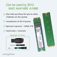 새로운 macbook air a1465 a1466 ssd 2012 년 64 gb 128 gb 256 gb 512 gb 1 t 2 t 솔리드 스테이트 디스크 md231 md232 md223 md224 하드 디스크 ssd
