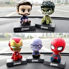 Супермен, Железный человек, Человек-паук, Халк танос, автомобильные аксессуары, трясущийся головой, кукла, ручная модель автомобиля, аксессуары для интерьера, украшение автомобиля