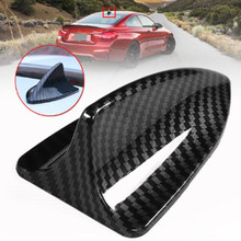 цены Universal Car Roof Trim Antenna Carbon Fiber Shark Fin Base Topper Decorative Aerial Antenna For BMW For Honda For Toyota For VW