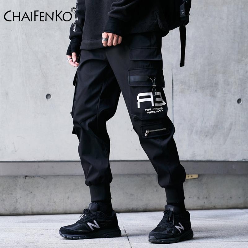CHAIFENKO Hip Hop Cargo Pants Men Fashion Harajuku Harem Pant Black Streetwear Joggers Sweatpant Multi Pocket Casual Mens Pants
