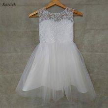 Новые платья для девочек с настоящим цветком праздничное платье