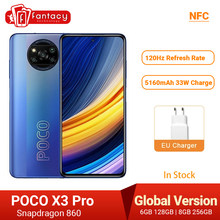 POCO X3 Pro küresel sürüm Snapdragon 860 Smartphone 120Hz DotDisplay 5160mAh 33W NFC dört AI kamera