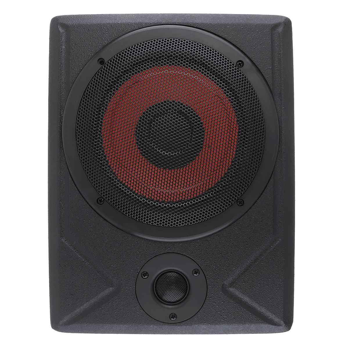 Fuselage noir universel mince 8 pouces 600W mince sous siège voiture Subwoofer actif amplificateur de basse haut-parleur nouveau