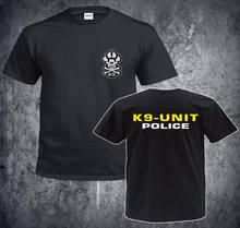 Moda estiva vendita calda uomo o-collo t-shirt in cotone ispirato K9 Unit Police t-shirt nera t-shirt Cool top Harajuku Streetwear