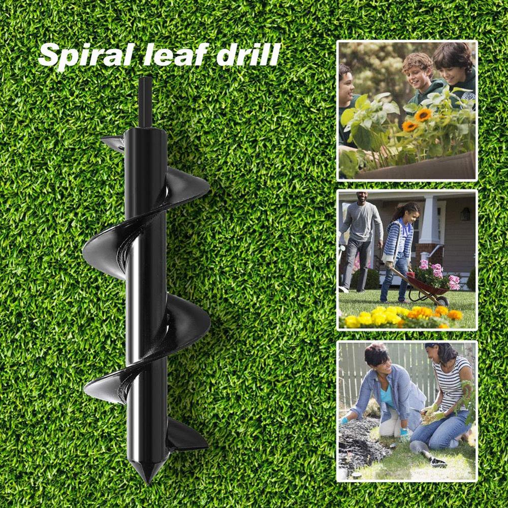 Drill-Bit Auger Flower-Planter Spiral Electric-Drill Modified-Ground-Drill Digging Carbon-Steel