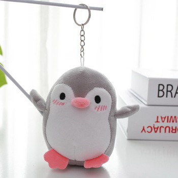 Soft Stuffed Animals Plush Toys 40pcs-lot 12cm Wholesale Penguin small Pendant keychain Wedding Party Kids Girl Xmas Gifts