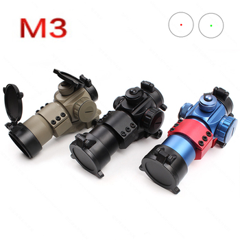 M3 Optical Sight Riflescope Red Green Dot Hunting Scope Holographic Red Dot Sight With 20mm Rail Mount For Gun Rifle Scope discovery hunting riflescope vt z 4x32 short economy air rifle riflescope with free scope mount