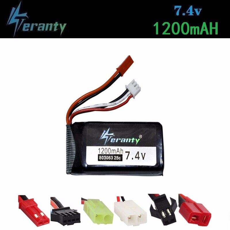 7.4V 1200mAh Lipo Battery For YiZhan Tarantula X6 MJX X101 X102h X1Brushless H16 WLtoys V666 V262 V353 V333 V323 803063 Battery