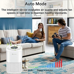 Image 2 - RIGOGLIOSO air cleaner TURE HEPA air purifier 4speed adjustment eco purificateur air hepa screen display air filter high quality
