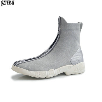 New style brand knitting knitting women's ankle boots socks boots European fashion autumn and winter style size 34-42