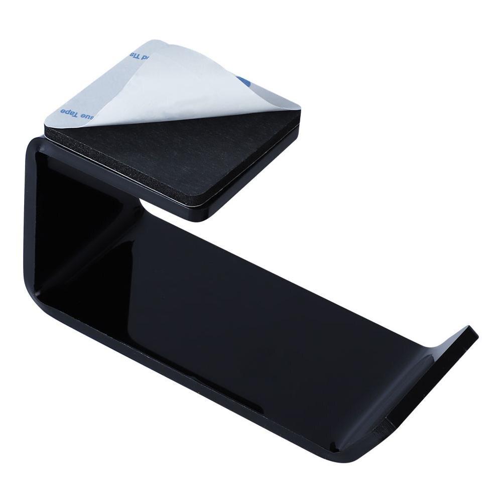 Sticker Acrylic Headphone Bracket Wall Mounted Headset Holder   Hanger Under Desk Hook Earphone Sticky Display Stand 3