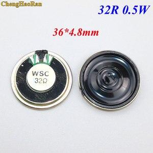 ChengHaoRan 2 pçs/lote Novo Ultra-fino orador 32 ohms 0.5 watt 0.5W falante 32R 36MM de Diâmetro 3.6 CENTÍMETROS de espessura 4.8 MILÍMETROS
