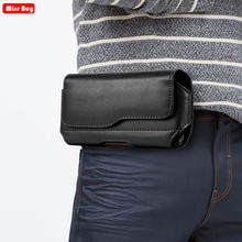Universal Phone Pouch For iPhone 12 11 Pro Max X 8 7 6 6S Plus 5 5S SE 5C 4 4S Xr Xs Case Leather Cover Belt Clip Holster Bags