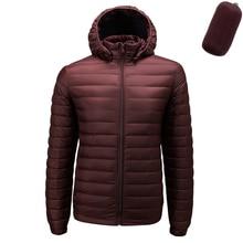 Fall Winter Ultra Light 90% White Duck Down Remove Hooded Man Coat Jaqueta Masculino Chaqueta Hombre Puffer Thin Men Down Jacket