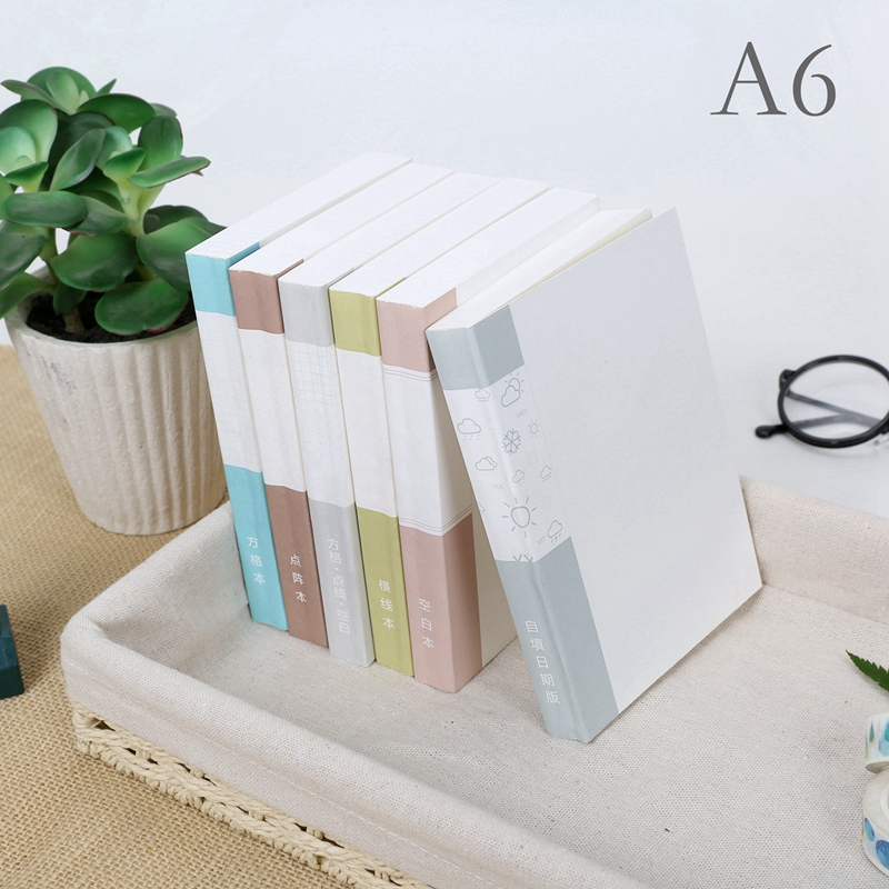 A6 Notebook Filler Paper Planner Refills 130 Sheets GRID Blank Lined Dotted Pages Inner Pages Agenda Journal Dots Pages For HOBO