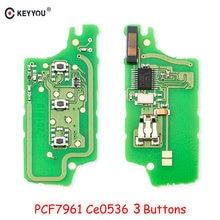3-кнопочный автомобильный пульт дистанционного управления KEYYOU FSK, электронная плата для Peugeot 407 407 307 308 607 для Citroen C2 C3 C4 C5 433 МГц ID46 CE0536