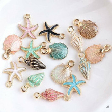 Necklace DIY Bracelet Anklet Craft Charms Handmade-Accessories Starfish Ocean-Pendants