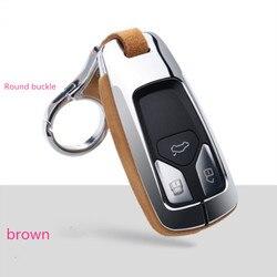Автомобильные аксессуары, Кожанный чехол-держатель для ключей для Audi A4, новинка, A4L A5, A6L, QT, S5, S7, Q7, TTS