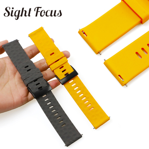 Image 5 - Sight Focus 24MM Silicone Watch Strap For Suunto9 Spartan Sport Watch Band Quick Release Suunto 9 Baro Traverse Rubber Watchband