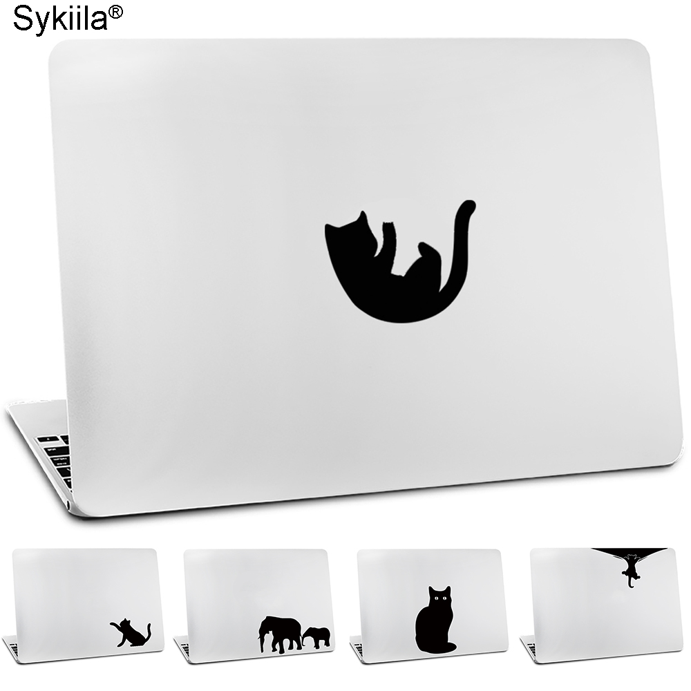 Vinyl Sticker For Apple Macbook Air 11 13 Inches For Mac Pro Retina 13 15 Skins Cover Glow Black Decal Cat Monkey Wolf Touch