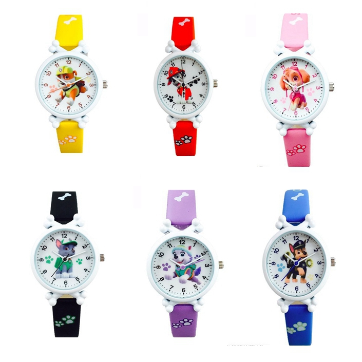 Paw Patrol Digital Watch Cartoon Figure Watch Toys Children's Electronic Waterproof Watch Leather Strap Kids Birthday Gift