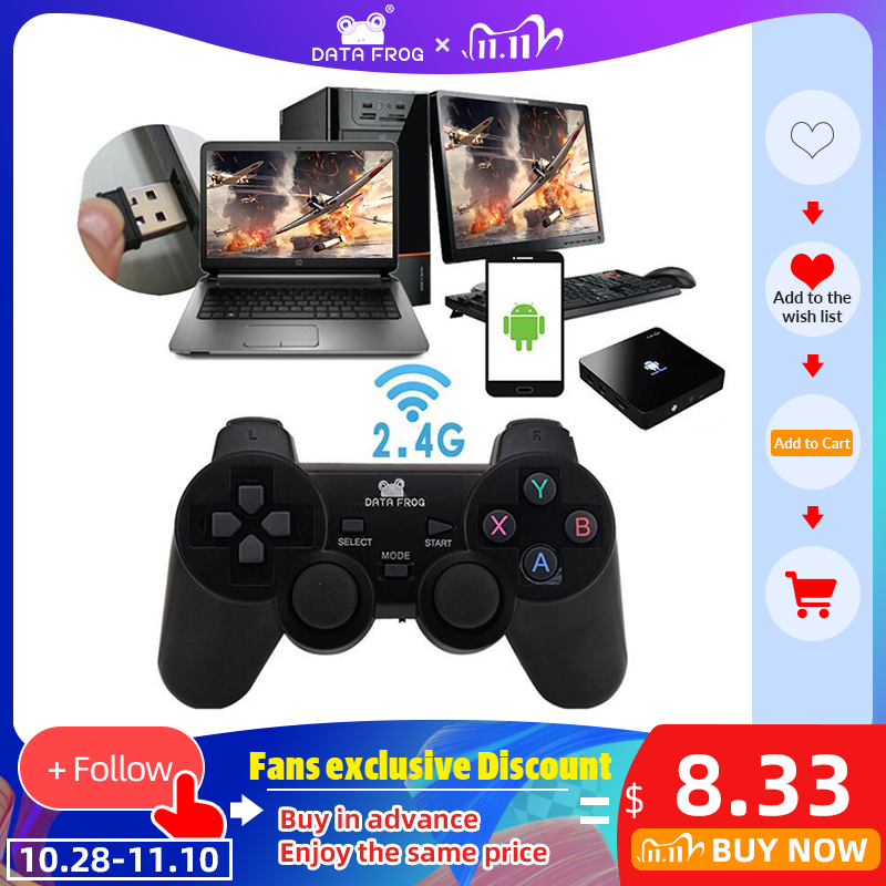 Data Frog 2 4 G Android Gamepad Compatible With PC Windows PS3 TV Box Android Smartphone Game Joystick