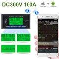 DC 300V 100A цифровой вольтметр Амперметр Напряжение мобильное приложение измеритель емкость батареи Вольт детектор тока источник питания Тест...