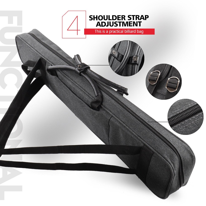 Konllen Billiard 7 Holes Cue Case 3 Butts 4 Shafts 86x16x8cm Gray Oxford Canvas Bag Carry Sturdy Wear Resistant Case Snooker Billiard Accessories Aliexpress